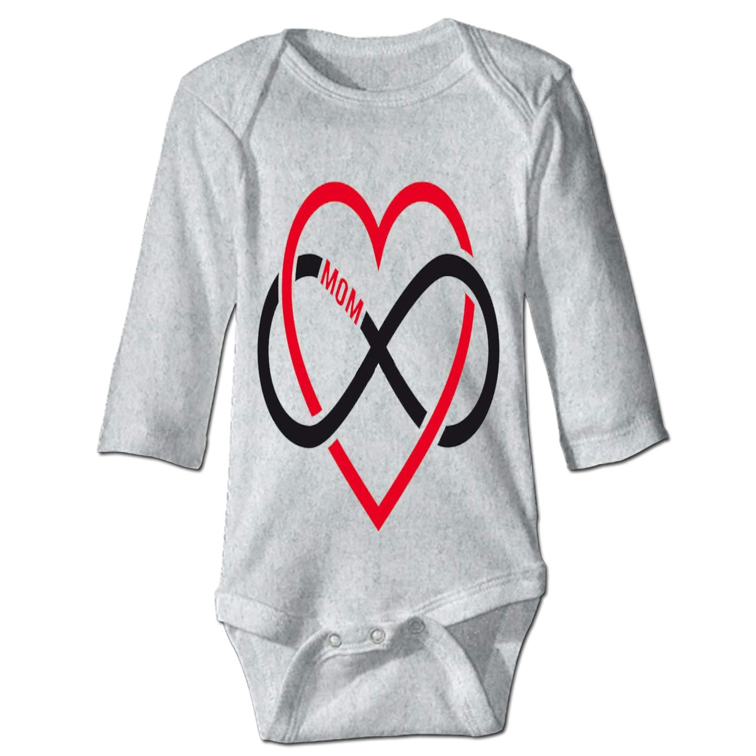 Red Heart Custom Funny Novelty Baby Cotton Bodysuits One-Piece