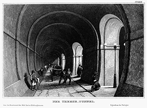 (London Thames Tunnel Nview From Inside The Thames Tunnel Built Beneath The Thames River In London England Between 1825 And 1843 Under The Direction Of Engineers Marc Isambard Brunel And Isambard Kingd)