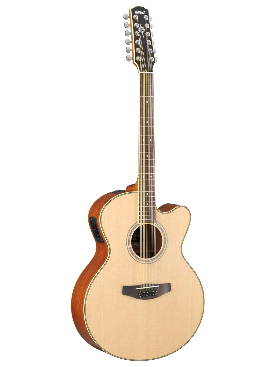 Amazon.com: Yamaha CPX700-12 12-String Cutaway Acoustic-Electric Guitar Bundle with Hardshell Case, Tuner, Instructional DVD, Strings, Pick Card, ...