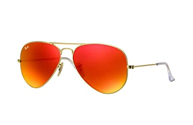 ray ban orange aviator