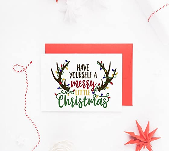 rustic christmas cards xmas cards happy holidays single or card sets of 10 - Rustic Christmas Cards