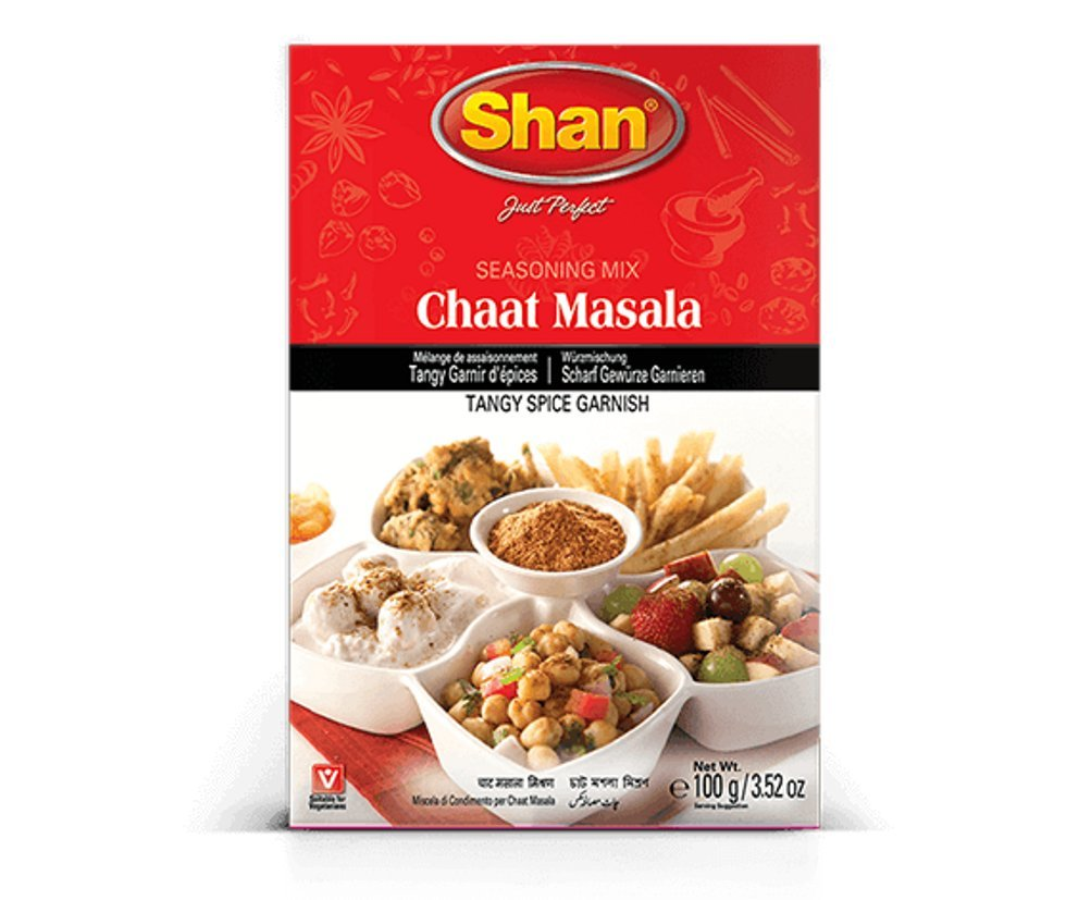 Shan Chaat Masala Seasoning Mix, 100 Grams (Pack of 6)