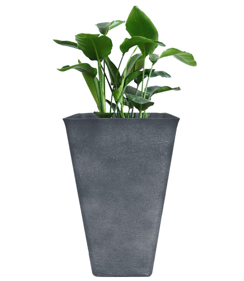 "Tall Planter 26"" Large Flower Pot Patio Deck Indoor"
