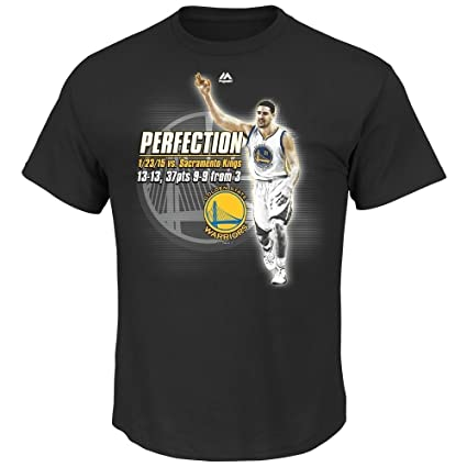 "Klay Thompson Golden State Warriors Nba ""Perfección"" graphic negro T Camisa ..."