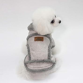 RC GearPro Perro de Mascota Abrigo de Invierno Chaleco de Estilo británico Chaqueta para Clima frío Ropa de Perro cálido para Perros pequeños y medianos: ...