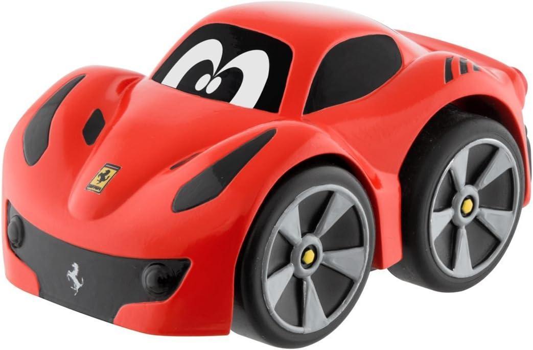Chicco - Mini vehículo Ferrari F12 TDF Turbo Touch, con carga por retroceso, color rojo