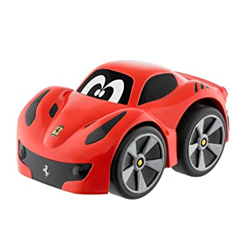 Chicco - Mini vehículo Ferrari F12 TDF Turbo Touch, con carga por retroceso, color rojo: Amazon.es: Bebé