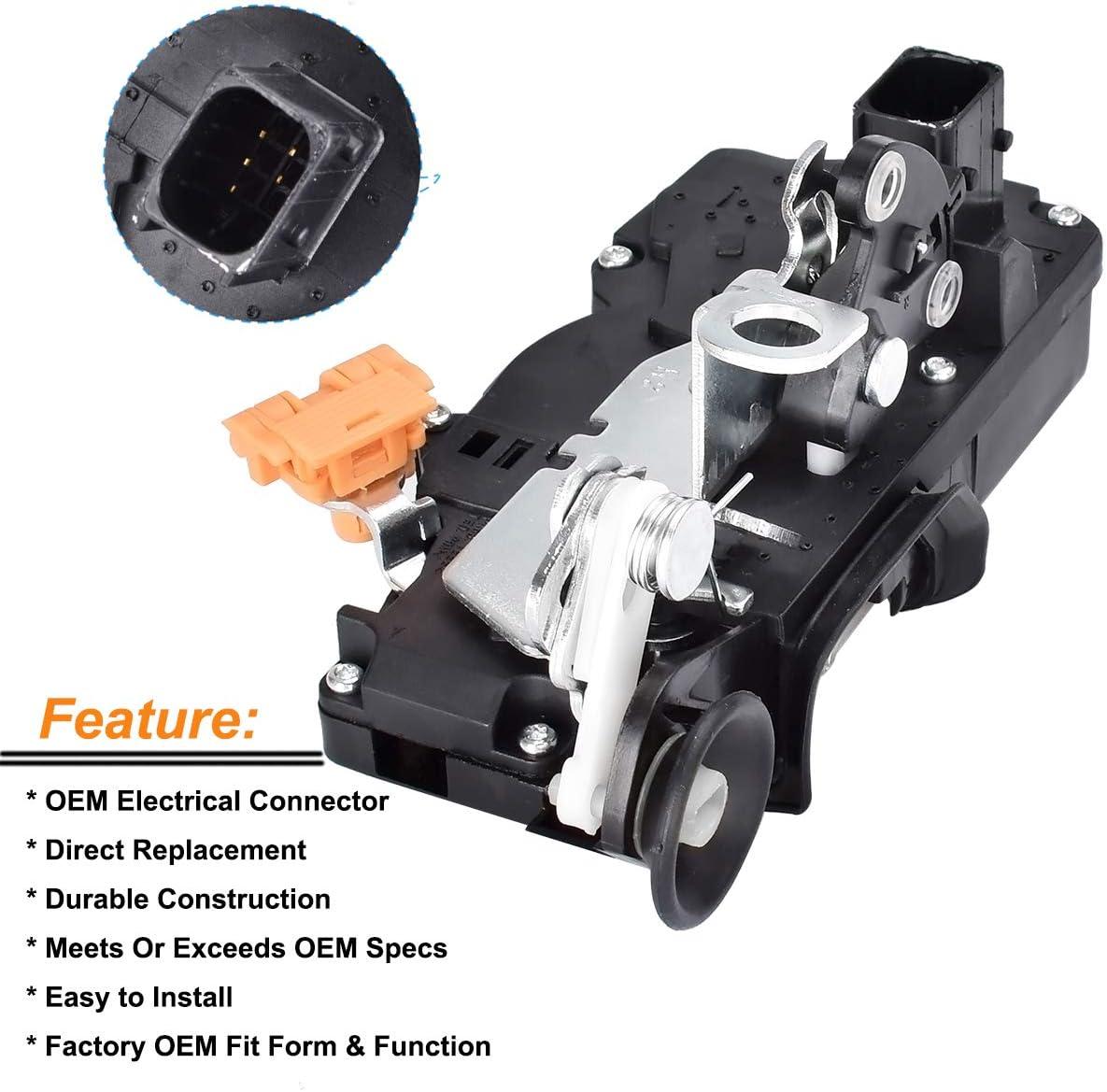 FAERSI Passenger Rear Door Latch /& Lock Actuator Motor for 2007 2008 2009 Cadillac Escalade Chevrolet Tahoe GMC Yukon 15785127 15896625 20783858 25873487 25876390