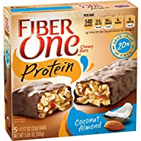 6-Pack Fiber One Protein Chewy Bars (Coconut Almond) 5 Count (Total 30 protein bars)