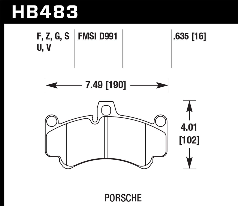 Hawk Performance HB483B.635 Street Brake Pads