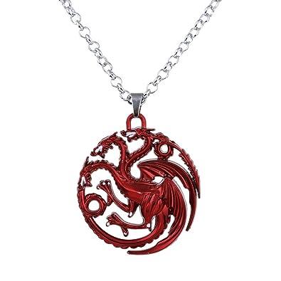 e8f14bef2f0f Lureme Juego de Tronos Inspirado Targaryen Colgante Traje Collar-Rojo  (nl005382-1)