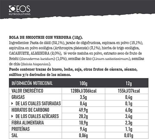 EOS - Smoothie Balls Greens & Veggies 120 g - Bolitas para ...