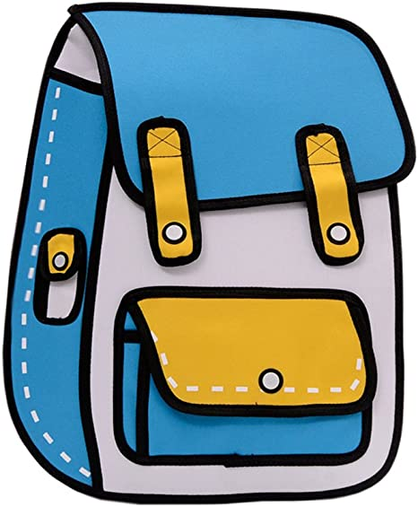 Flyfish 3d Jump Style 2d Drawing From Cartoon Paper Comic Backpack School Shoulder Bag A Amazon Co Uk Luggage