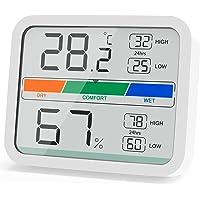 LIORQUE Termómetro Higrometro Digital, Medidor de Temperatura y Humedad con Registro Máximo y Mínimo para Interior…