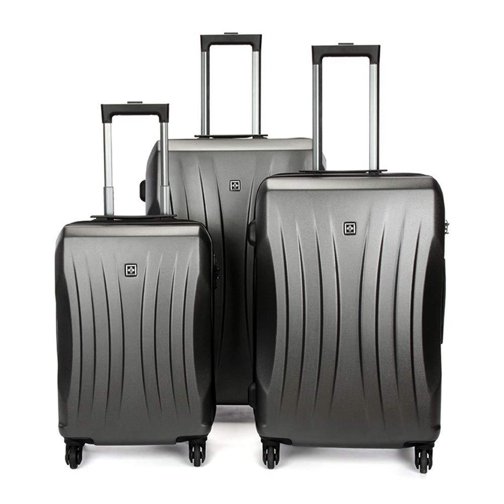 スーツケース 荷物ローテーターハードシェル軽量ネストキット機内持ち込み列荷物サイレントローテーター多方向ホイール男性と女性の旅行登録 多機能省スペース機内持ち込みスーツケース (色 : グレー, サイズ : 20in+24in+28in) B07SX6KBRJ グレー 20in+24in+28in