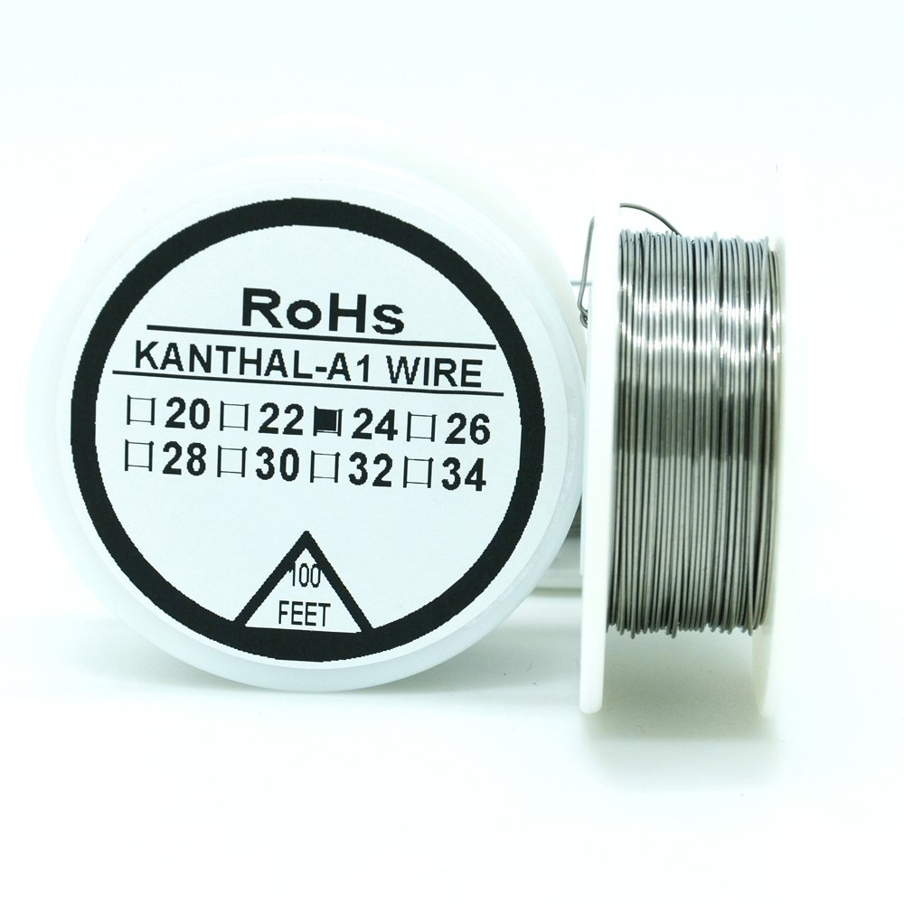 Kanthal A1 Type Resistance Wire 100ft (30m) Spool 22-32G AWG (24G ...