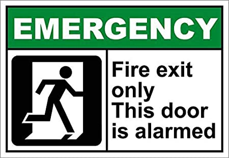 Tarfy Fire Exit Only This Door is Alarmed Emergency ...
