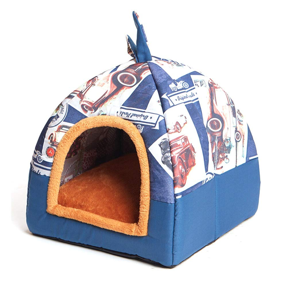 B 474752cmXMGJ Dog Houses Pet Nest Removable And Washable Small Dog Teddy Pet Nest Kennel Cat Litter Four Seasons Universal Pet Supplies  Three colors Optional Pet Supplies (color   A, Size   47  47  52cm)