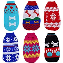 Zrong Dog Soft Cute Cat Puppy Pet Knitted Jumper Sweater Coat Outwear Apparel Random Color