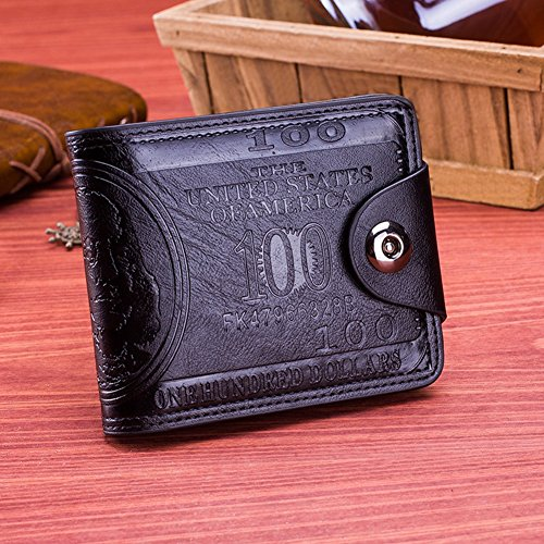 Black Black Button Wallet Leather Credit timeracing Magnetic Fashion Holder Men Card Faux Classic US Dollar qw6OnP7wI1
