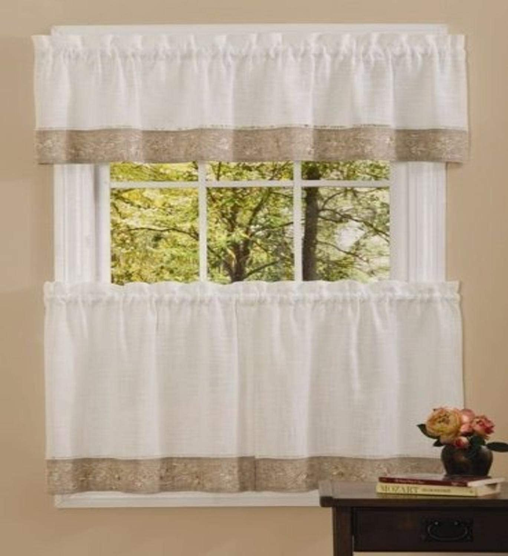 58x14 Achim Home Furnishings Westport Window Curtain Valance Taupe