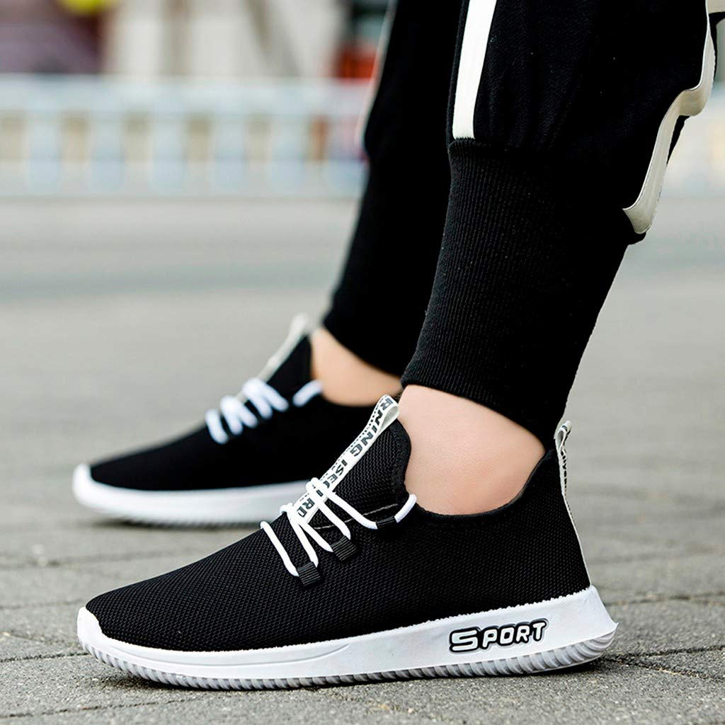 Mens Walking Sneakers Athletic Lightweigh Casual Mesh Comfortable Walk Shoes