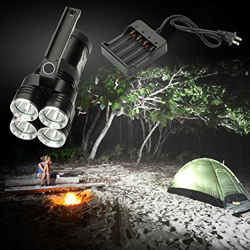 Worlds Brightest Spotlight - 4000 Lumen High Power LED Rechargeable Spotlight - Portable and Easy to Carry. by Product Stop, Inc (Image #2)