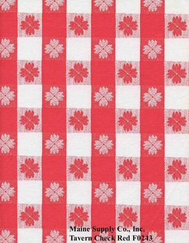 (Red Tavern Check Series F0243 Vinyl Tablecloth 54