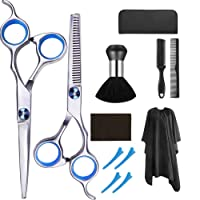 Hair Cutting Scissors Set, 12 Pcs Hairdressing Scissors Kit, Professional Hair Cutting...