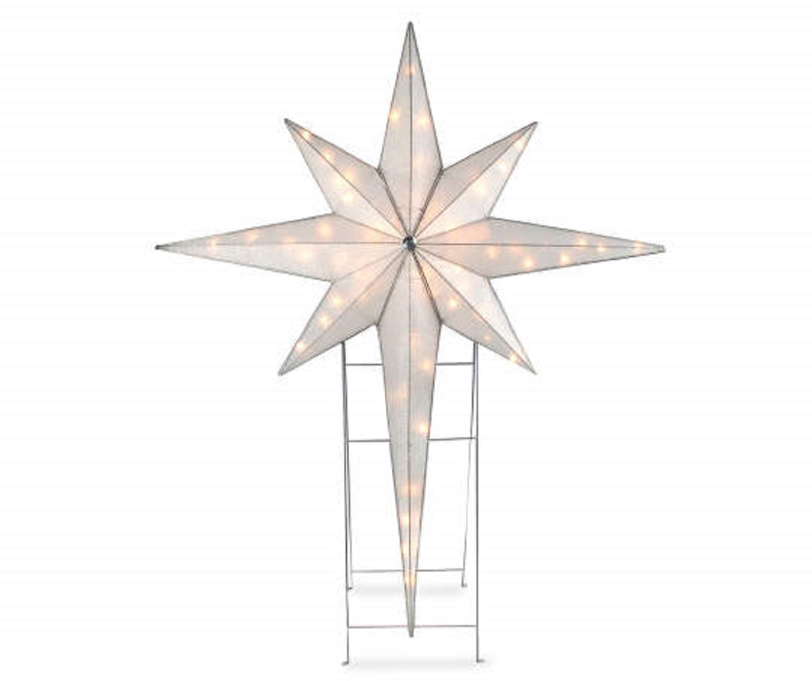 Large 4.6 Pre Lit Star of Bethlehem Indoor Outdoor Holiday Yard Art Nativity
