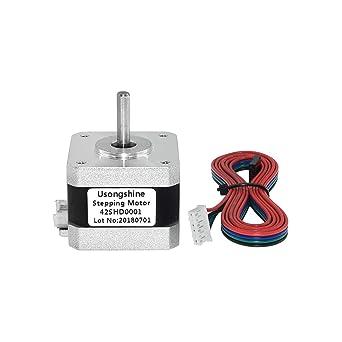 42SHD0001 Nema 17 Motor paso a paso Bipolar de 4 cables 34mm 12V ...