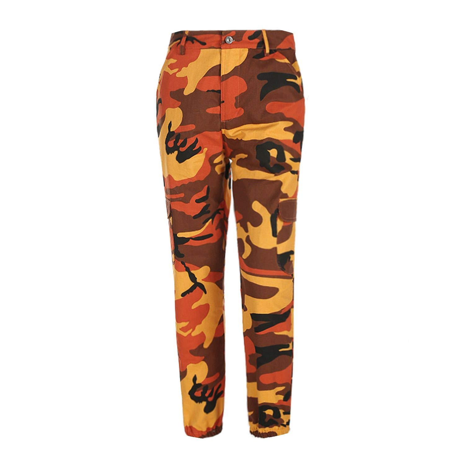 Women Camouflage Pants Casual Pink Camo Sweatpant Gray Orange Camo Pants  High Waist Trousers at Amazon Women s Clothing store  7c653a609c6