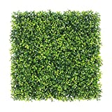 """ULAND Artificial Boxwood Hedge Panels, Grass Greenery Backdrop, Outdoor Ivy Garden Fence, Home Wall Decorations, Pack of 6pcs 20""""x20"""""""