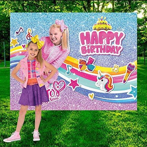 Jojo Siwa Kids Birthday Party Photography Backdrop Girl Photo Background Banner