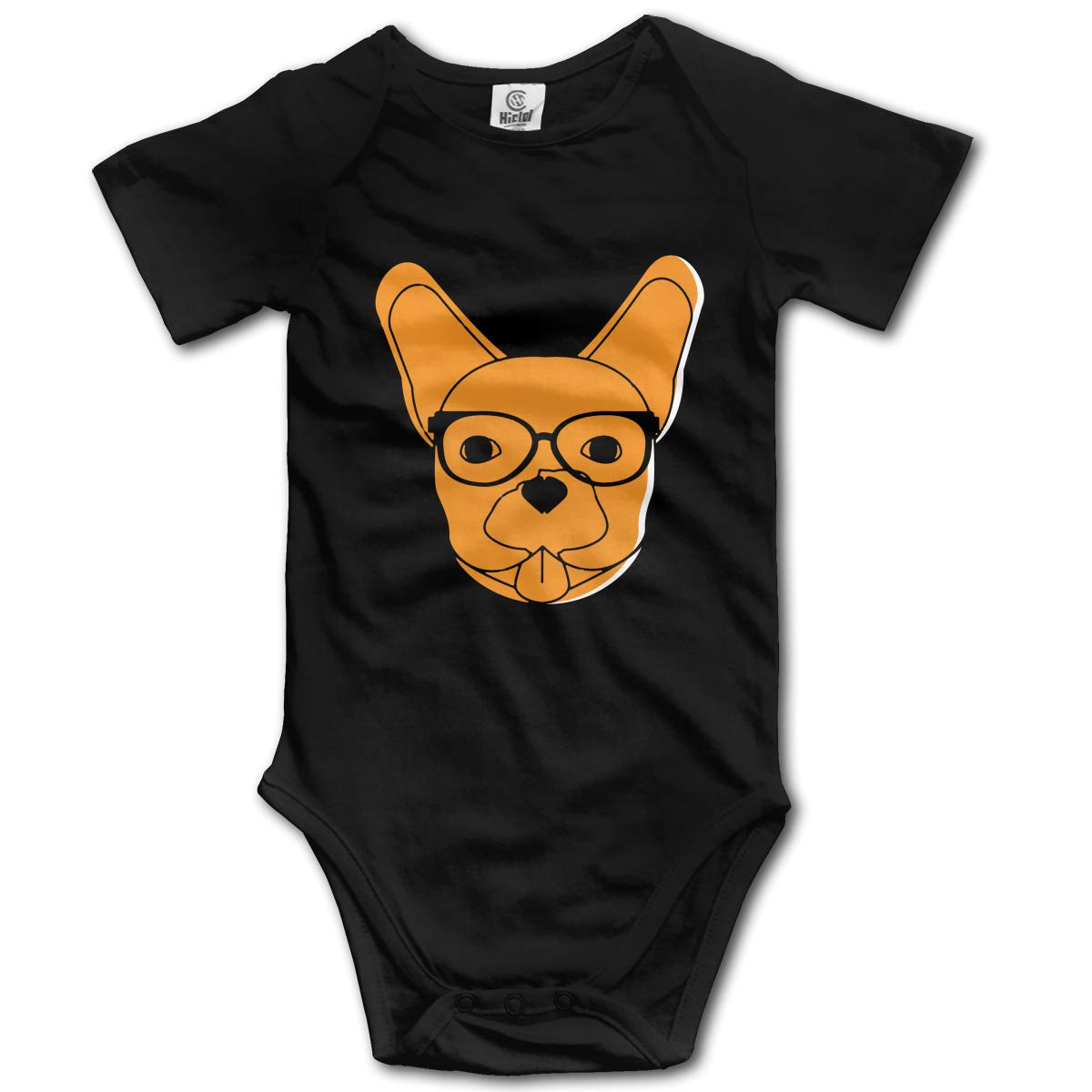 French Bulldog Dog Unisex Solid Baby 100/% Organic Cotton Romper Bodysuit Tops 0-24M