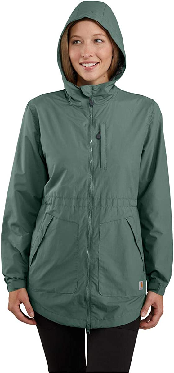 Carhartt Womens Rockford Water Repellent Hooded Coat Vert musc.
