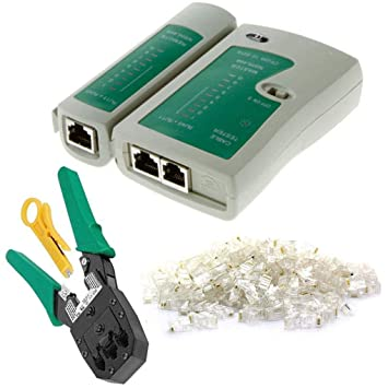 Provide The Best 4 Piezas de Red Cable Tester Detector Herramienta Que Prensa Establece Conector RJ45 Plug Pelacables de la Red: Amazon.es: Hogar