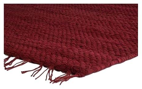 Prairie Rugs Heavy Weight Cotton Rag Rug, 6 X 9, Red