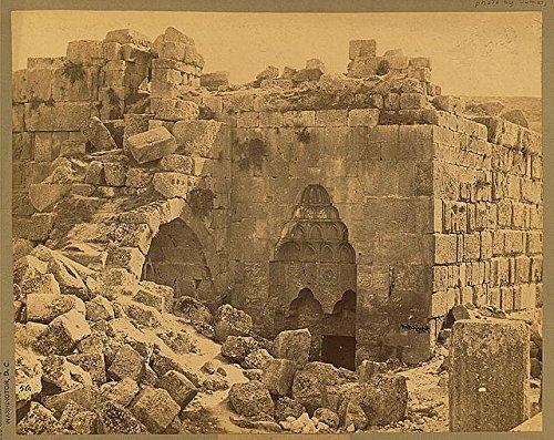 Photo: Arab temple,Baalbek,Lebanon,Building in ruins,1860-1900,Archaeological - Online Shopping Lebanon Sites