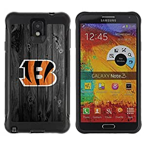 King Case@ Cincinnati Bengal Football Rugged hybrid Protection Impact Case Cover For Note 3 Case ,N9000 Leather Case ,Leather for Note 3 ,Case for Note 3 ,Note 3 case