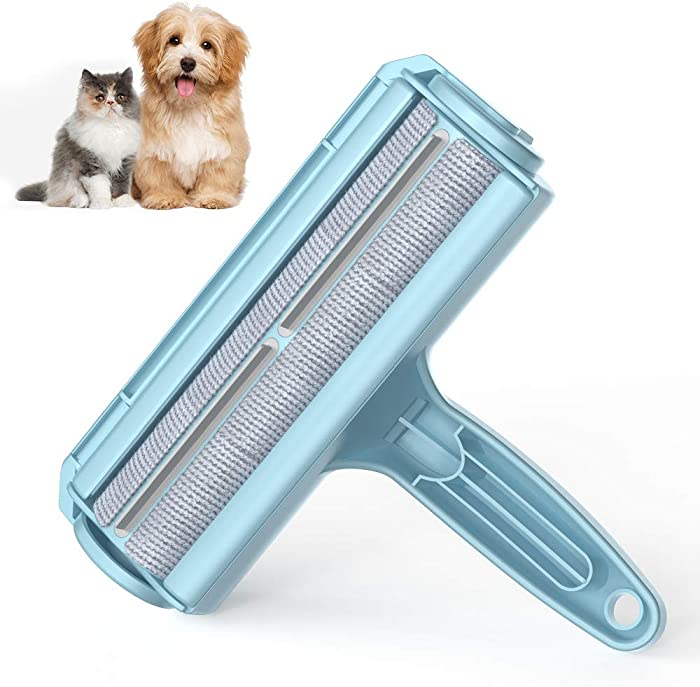 DELOMO Pet Hair Remover Roller - Dog & Cat Fur Remover with Self-Cleaning Base - Efficient Animal Hair Removal Tool - Perfect for Furniture, Couch, Carpet, Car Seat