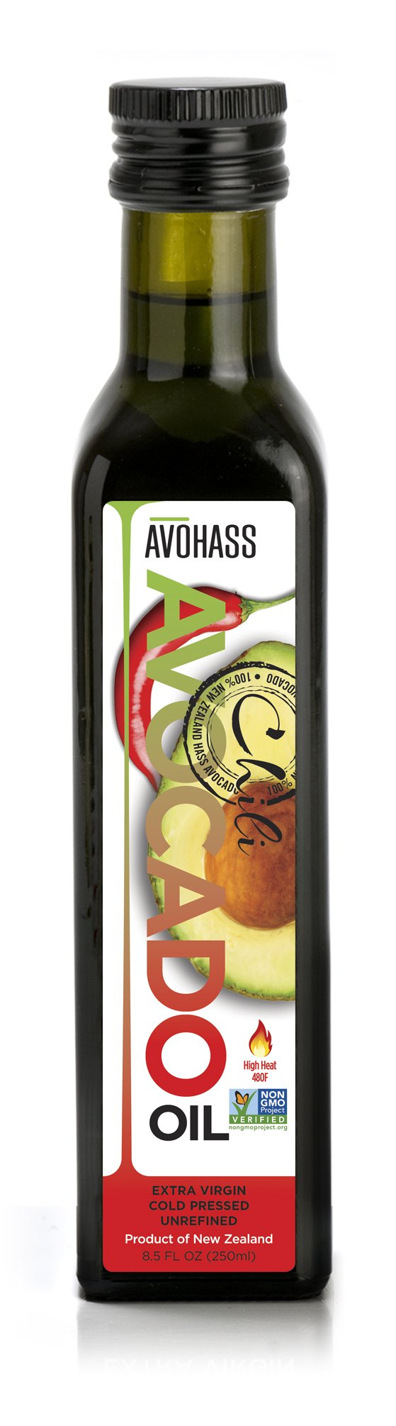 Avohass New Zealand Chili Extra Virgin Avocado Oil 8.5 fl oz Bottle by AVOHASS