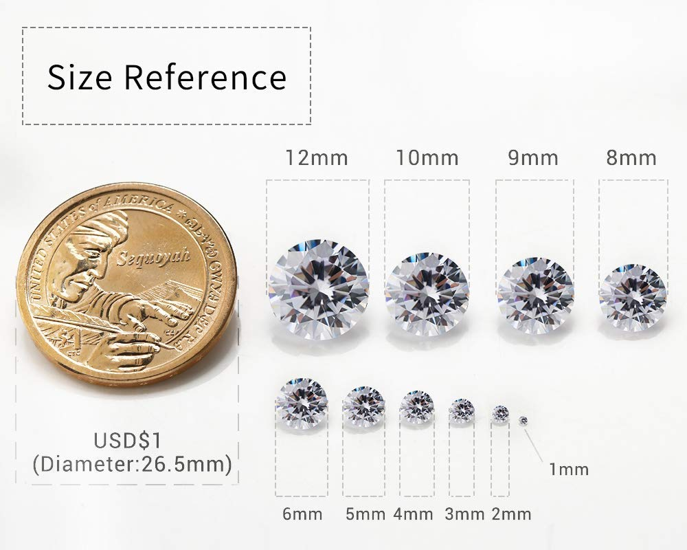 Forever One Loose Moissanite 1.66 Carat F Color Round Brilliant Cut 7.9 MM VVS
