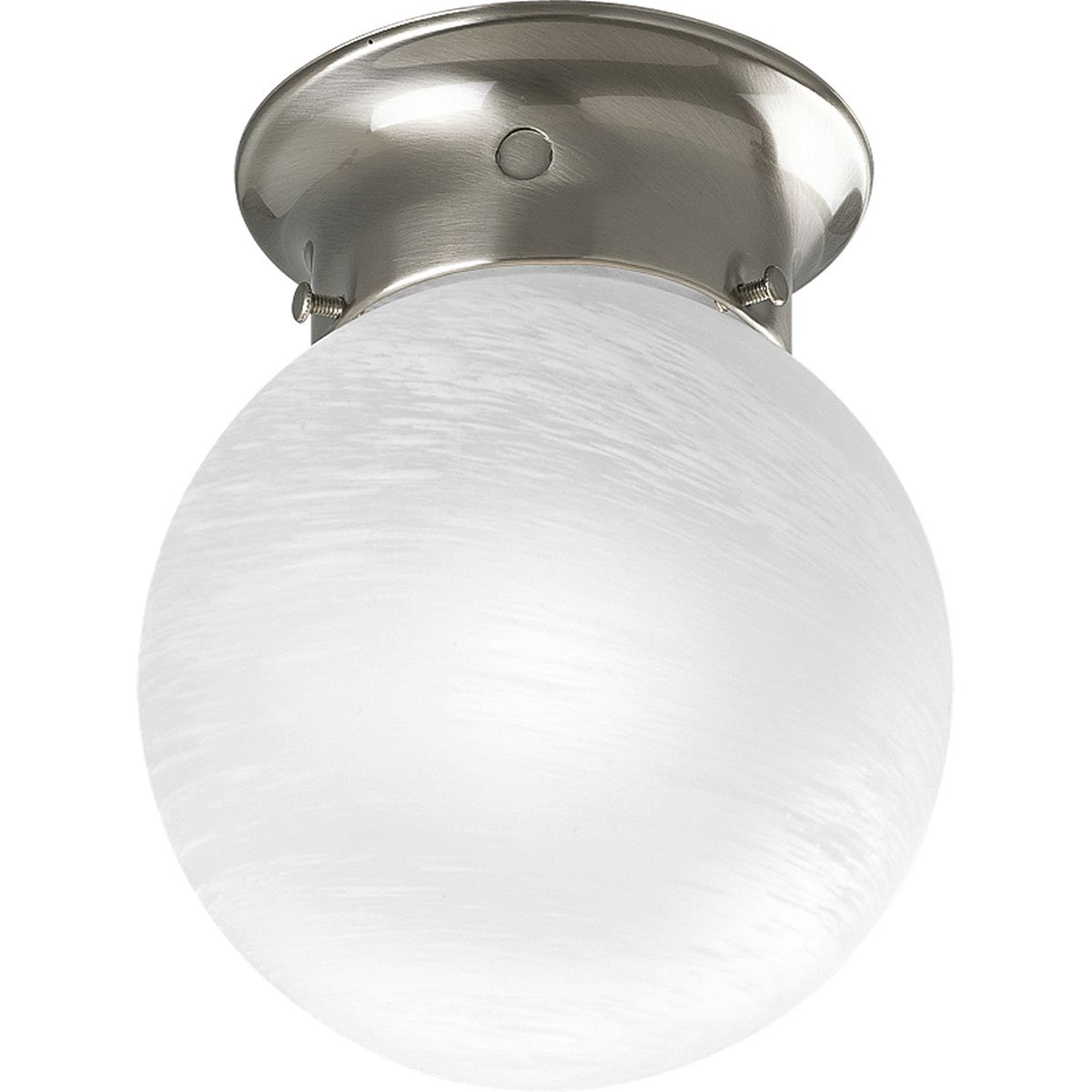 Progress Lighting P Ceiling Fixture With White Glass Globe - Basic light fixture