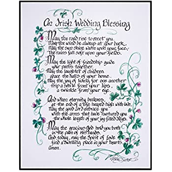 An Irish Wedding Blessing 11x14 In Decorative Wall Plaque
