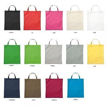 8f279dec29679 Premium Baumwolltasche Umhängetasche Stoffbeutel Beutel Shopper mit kurzen  Henkel - viele Farbe