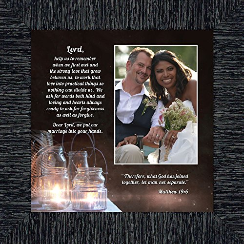 Personally Yours Marriage Prayer with Scripture, A Matthew Bible Verse, True Love Picture Frame, 10x10 6374CH by Personally Yours
