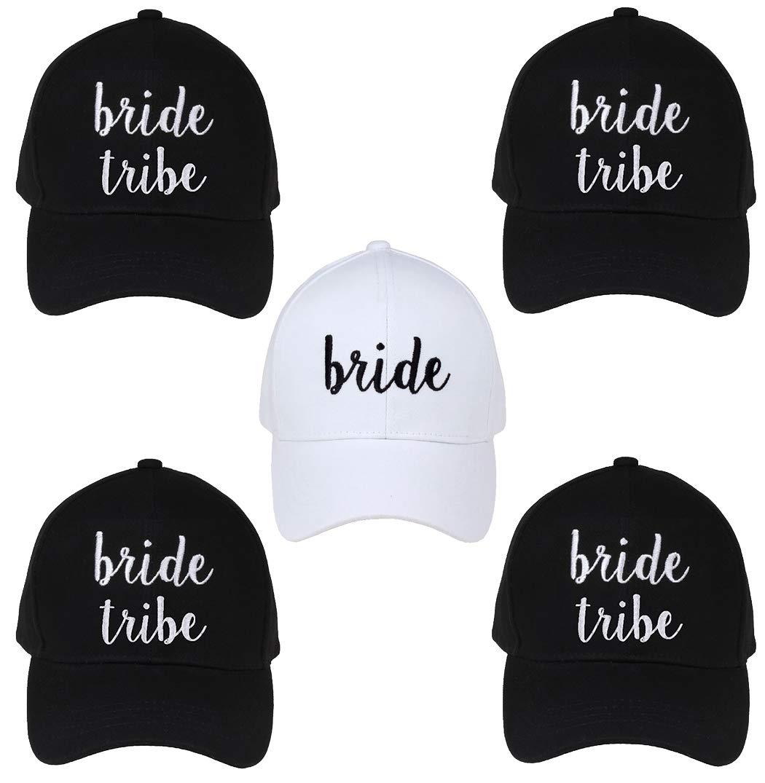 H-2018-5-B0906.4BT Bridal Bundle - 1 Bride (White/Black) & 4 Bride Tribe