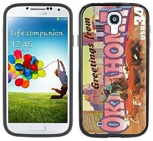 Oklahoma Postcard Handmade Samsung Galaxy S4 Black Bumper Hard Plastic Case