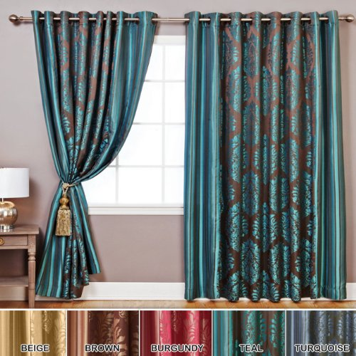 Teal Curtains For Living Room Amazon